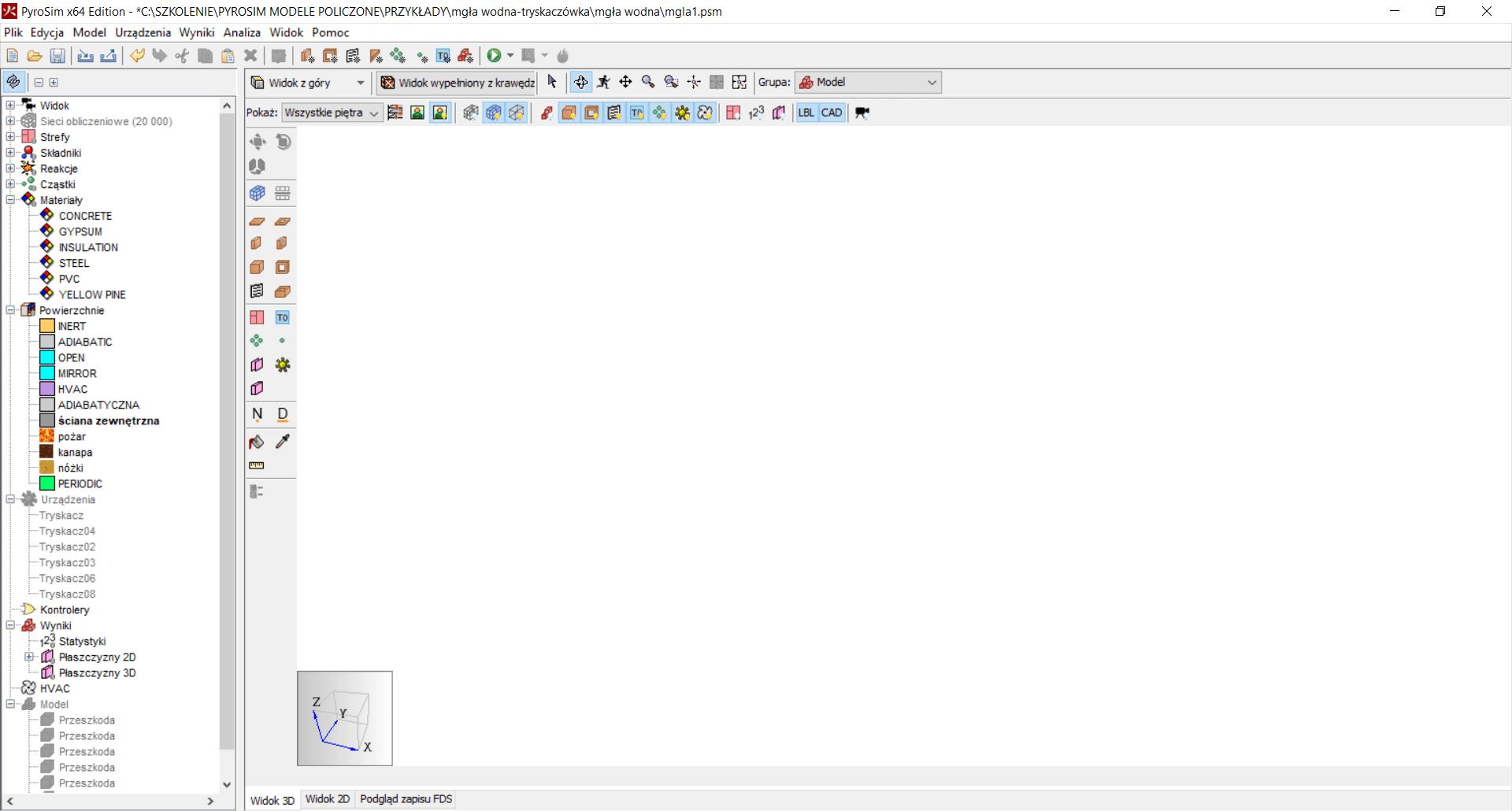 Okno nawigacji - Interfejs użytkownika FDS