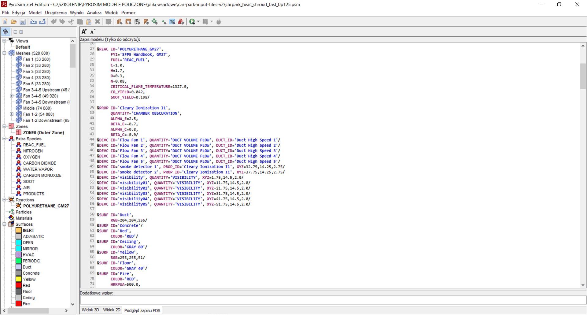 Podgląd zapisu interfejsu użytkownika FDS