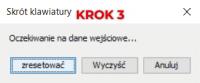Okno edycji skrótów klawiszowych